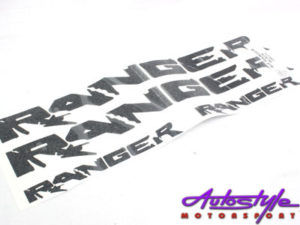 Ford Ranger Door Vinyl Sticker Set-0