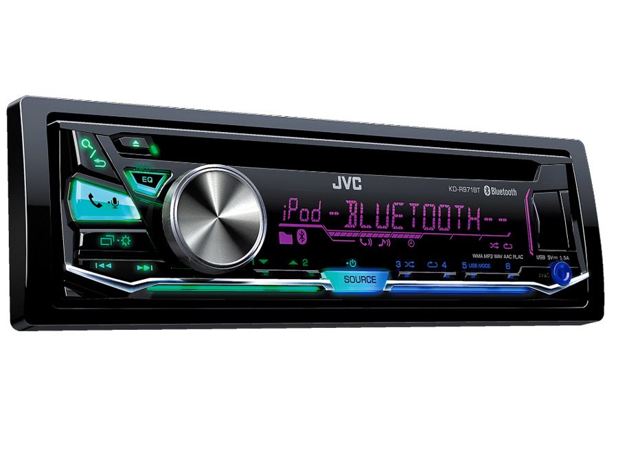 JVC KD-R971BT Mp3 Cd with Bluetooth and Multi-Color Display