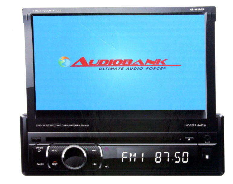 """Audiobank 7"""" In-Dash Dvd Receiver with GPS & Bluetooth-0"""