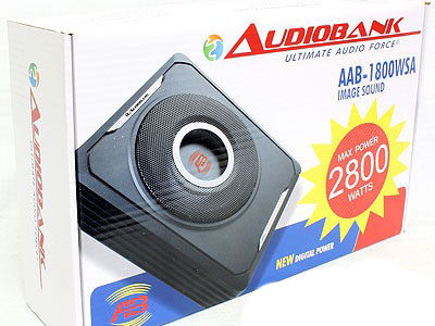 """Audiobank 8"""" 2400w Compact Subwoofer/Amplifer Combo-23379"""