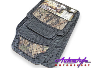 Sniper Army Camouflage Checkered Rubber Floor Mats-0