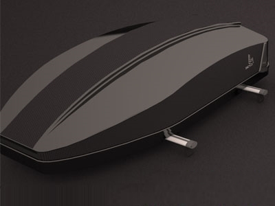 Rebel RoofBox Carbon Fibre Look Roof Storage Carriers