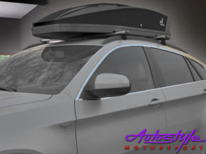Rebel RoofBox Carbon Fibre Look Roof Storage Carriers-23538