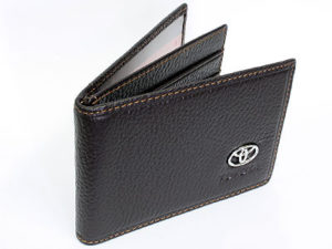 Toyota Dark Brown Leather CardHolder Wallet-0