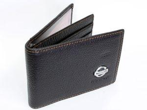Nissan Dark Brown Leather CardHolder Wallet-0
