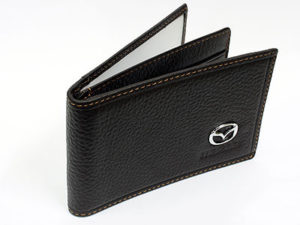 Mazda Dark Brown Leather CardHolder Wallet-0