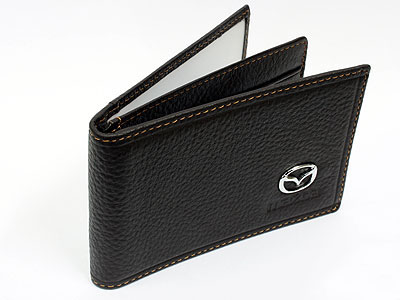 Mazda Dark Brown Leather CardHolder Wallet