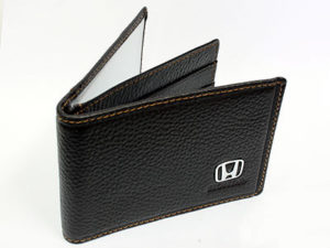 Honda Dark Brown Leather CardHolder Wallet-0