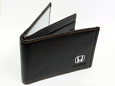 Honda Dark Brown Leather CardHolder Wallet