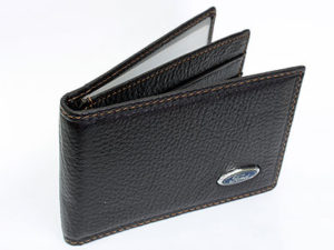 Ford Dark Brown Leather CardHolder Wallet-0
