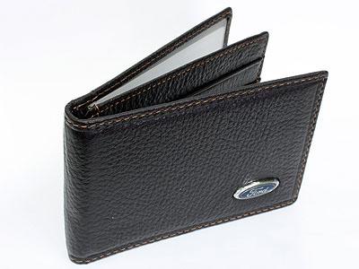 Ford Dark Brown Leather CardHolder Wallet