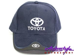 Toyota Leather tip Baseball Cap-0