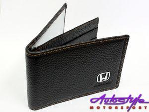 Honda Dark Brown Leather CardHolder Wallet-0