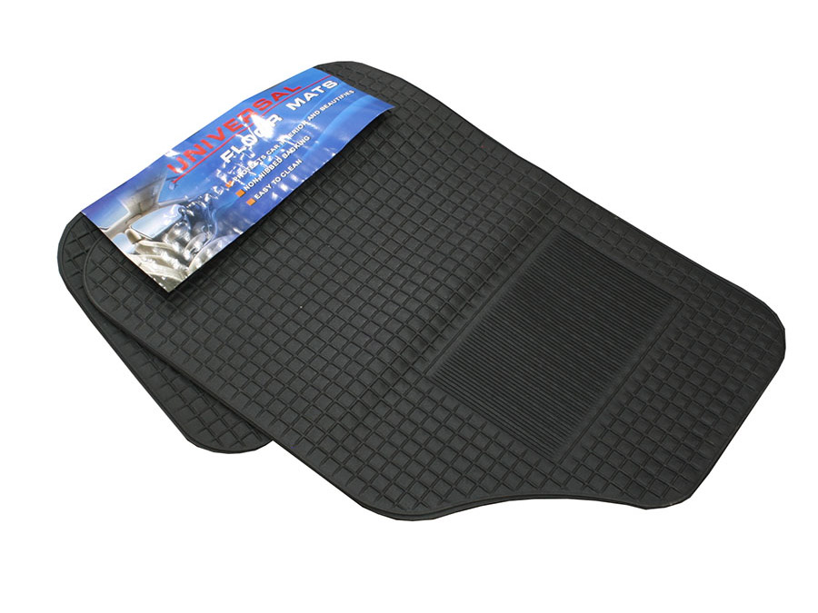 Universal Rubber 4pc Floor Mat Set