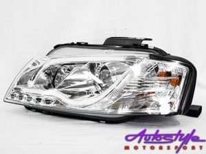 Audi A3 Chrome DRL Tube 03+ Headlights (pair)-0