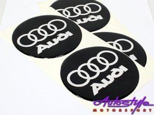 Audi 90mm Wheel Center Decals-0