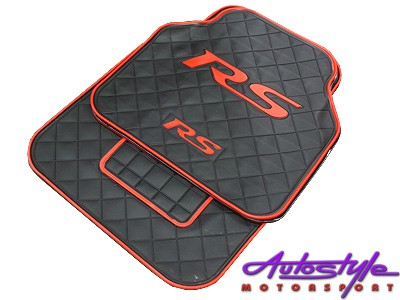 Universal RS Red & Black Rubber Floor Mats-0