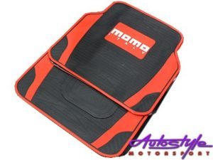 Universal Momo Red/Black Rubber Floor Mats-0