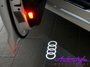 Door Puddle Light with Audi Ring Design (pair)-0