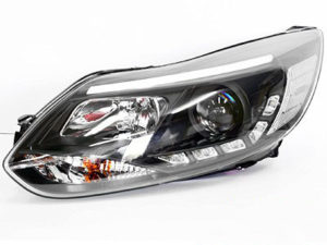 Ford Focus 2011 Black DRL Headlights (pair)-0