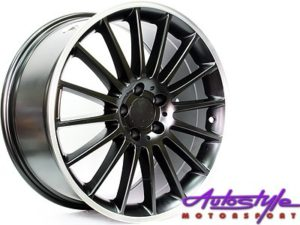 "19"" QS ZR63 Matt Black 5/112 Narrow & Wide Alloy Wheels-0"