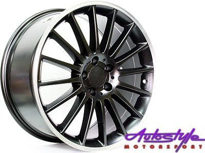 19″ QS ZR63 Matt Black 5/112 Narrow & Wide Alloy Wheels