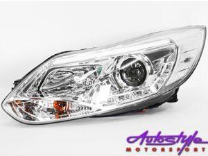 Ford Focus 2011 Chrome DRL Headlights (pair)-0