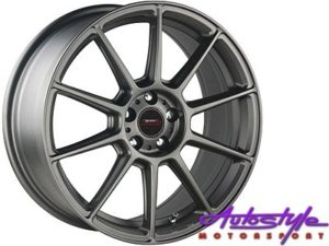 "17"" A-Line Spree 4/100 & 4/108 Matt CHG Alloy Wheels-0"