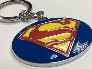 Chrome Superman Design Keyring-0