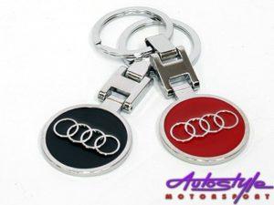 Chrome Audi Design Keyring-0