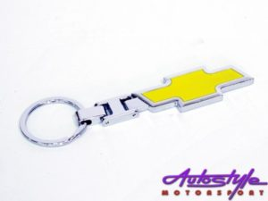 Chrome Chevrolet Design Keyring-0