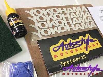 Brand Name Tyre Lettering Kit (20mm 8pc) -0