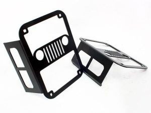 Jeep Wrangler Matt Black Steel Tailight Cover-0