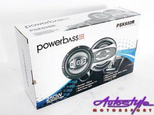 """Powerbass 6"""" 250w 3way Speakers-0"""