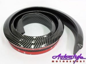 Samurai Universal Flexible Carbon Fibre Look Spoiler (thick)-0