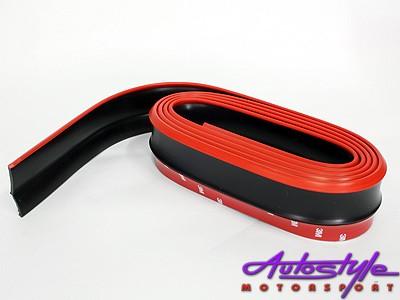 Samurai Universal Flexible Fibre Look Spoiler (red & black)-0