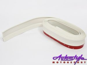 Samurai Universal Flexible Fibre Look Spoiler (white)-0