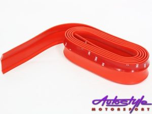 Samurai Universal Flexible Fibre Look Spoiler (red)-0