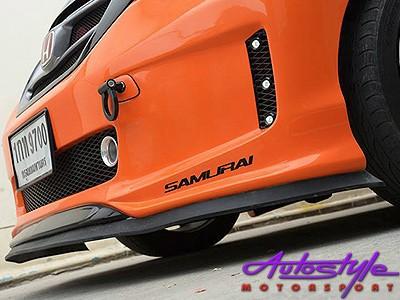 Samurai Universal Flexible Fibre Look Spoiler (red & black)-24865