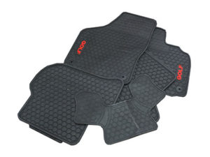 VW Golf MK6 Golf Rubber Car Mats (5pc set)-0