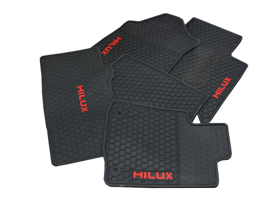 Toyota Hilux Revo Rubber Car Mats (5pc set)