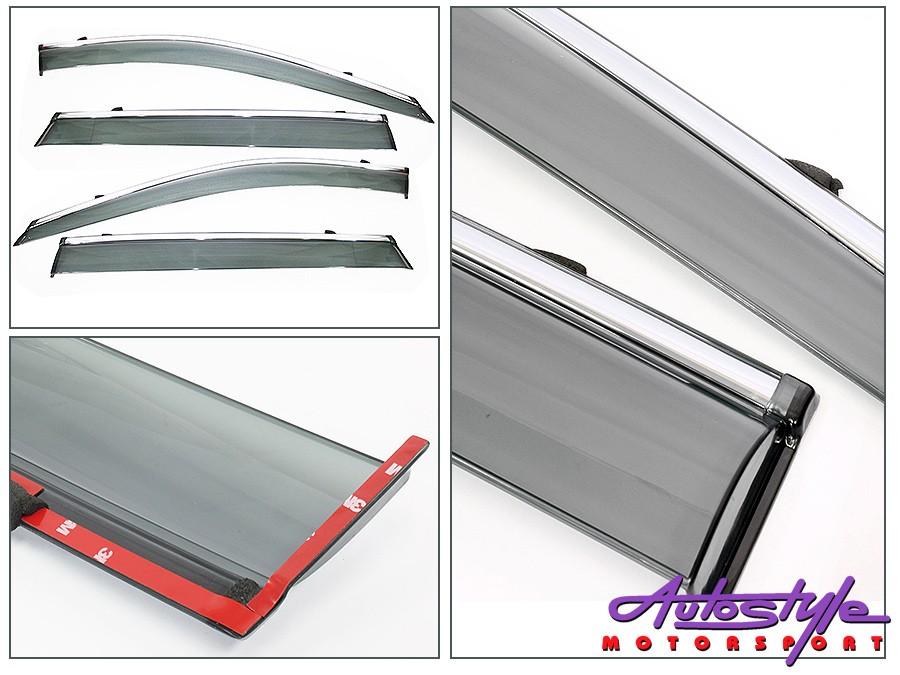 NX Tint & Chrome Stripe  Windshields for Nissan X-Trail 2014+