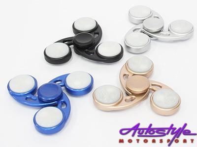 Fidget Spinner Ninja Star Design  with LED Lights (8cm)