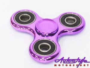 Fidget Metallic Finish Spinner Wheel (Assorted Colors)-25512