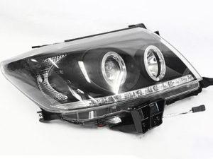 2011 Toyota Hilux Angel Eye Smoke Headlights-0