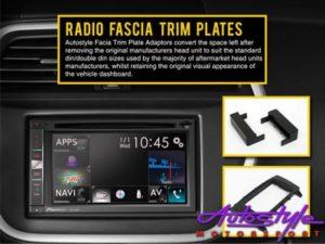 Radio Fascia Trim Plate for Audi TT 2002 (double din)-0
