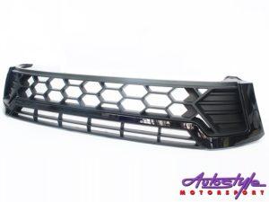 Toyota Hilux Revo Black Mesh Grille Kit-0