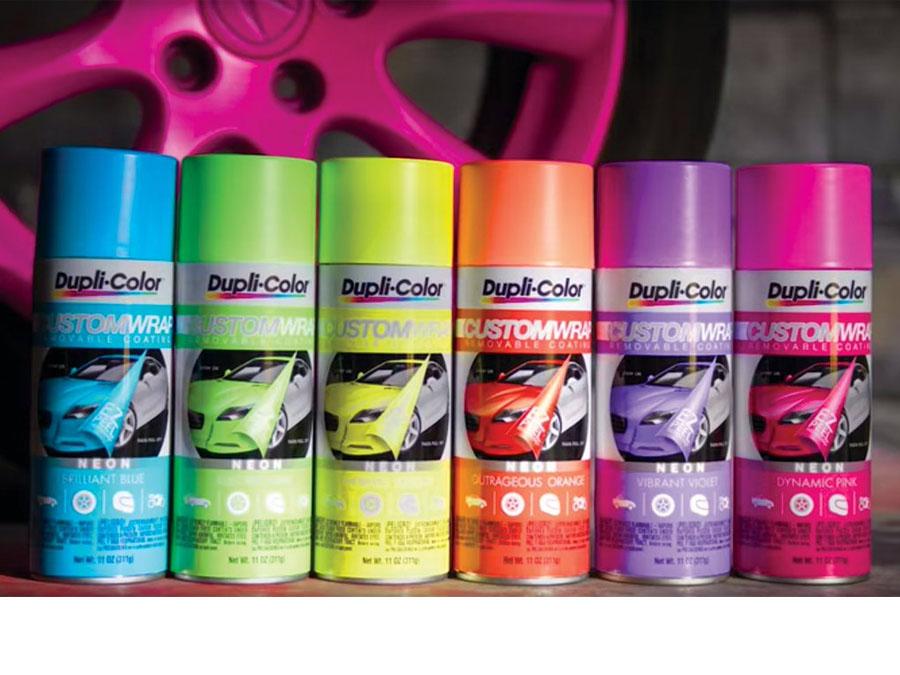 Dupli-Color Custom Wrap Renovating Coating (Neon Dynamic Pink)