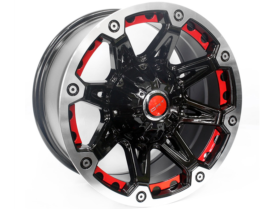 17″ Evo BK349 6/139 BP-Red Alloy Wheels