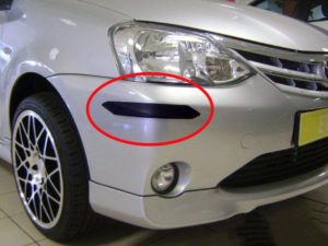 Toyota Etios OEM Spec Plastic Bumper Guard Stripes (sedan)-0